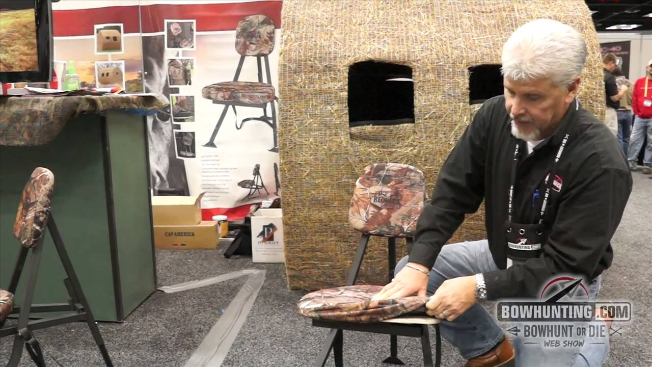 portable hunting chair white round kitchen table and chairs redneck outdoor products ata show 2015 youtube