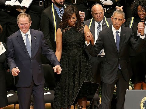 George W Bush: Criticized for DANCING at Memorial