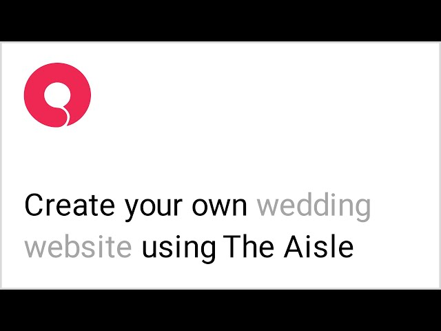 How to Make a Wedding Website Using WordPress