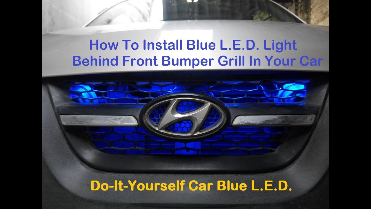 how to install blue l e d light in car front grill looks awesome in night 5050 module blue l e. Black Bedroom Furniture Sets. Home Design Ideas