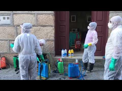 Desinfección de las calles de Seixalbo