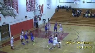 Acton Boxborough Varsity Boys Basketball @Waltham 12/18/13