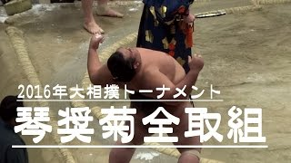 第40回大相撲トーナメントの琴奨菊関の取組みです。 白鵬と同じ山なので...