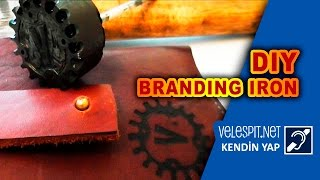 How to Make Branding Iron #1 | DIY | Wood and leather cauterization