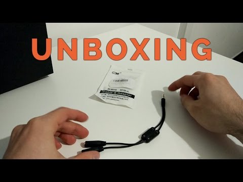 UNBOXING - Audio Splitter 1 Male to 2 Female
