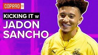 England Phenom Takes on FIFA 19 & Drake vs. Travis Scott | Kicking It with Jadon Sancho