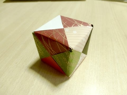 【DIY craft】 How to make Dice. Cube. Origami. The art of folding paper.
