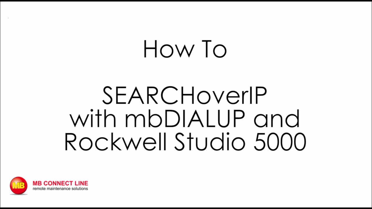 Video: SEARCHoverIP with mbDIALUP and Rockwell Studio 5000