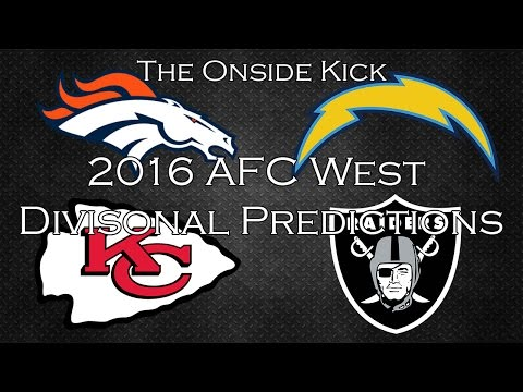 2016 AFC West Divisional Predictions