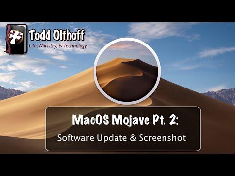 MacOS Mojave Part 2: Software Update & Screenshot