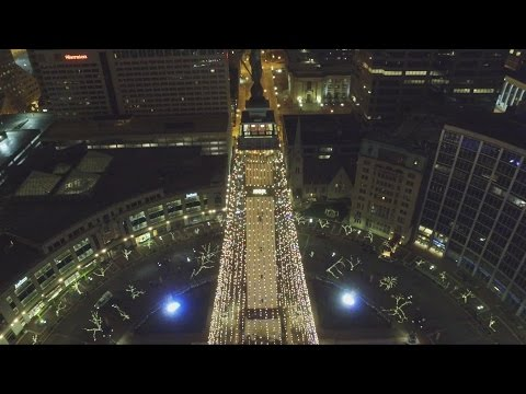 Drone's Christmas Display Montage - All Of Indianapolis - Amazing