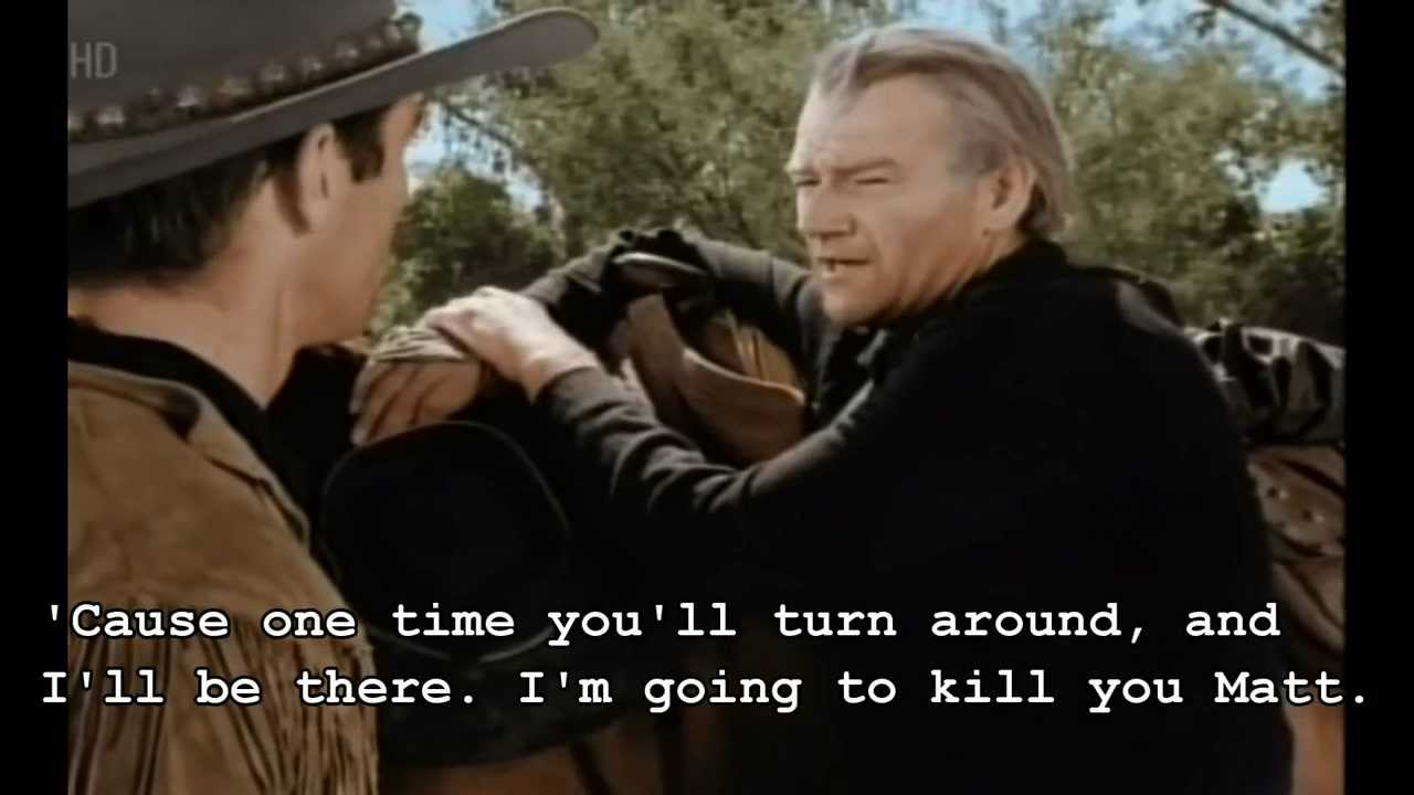 John Wayne I Ll Kill Ya Matt Red River Quote Youtube