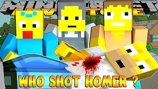 Minecraft - Donut the Dog Adventures -WHO SHOT HOMER SIMPSON??