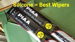 The Best Wiper Blades - PIAA Super Silicone Wiper Blades - 2x Longer Life than Rubber Wiper Blades
