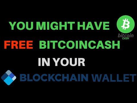 download Free BitcoinCash in your Blockchain wallet