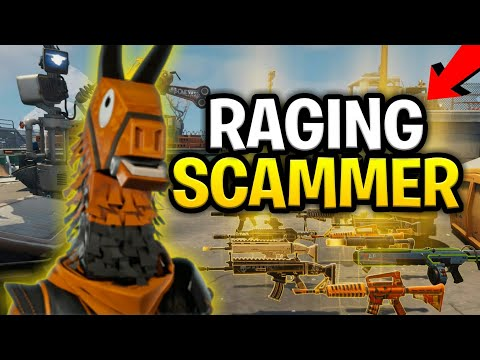 Rude Raging Scammer Loses Entire Inventory! (Scammer Get Scammed) Fortnite Save The World
