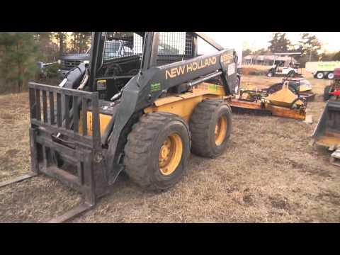 1998 New Holland LX865 Turbo Skid Steer - YouTube