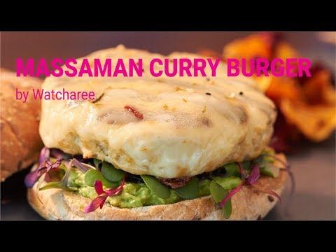How to Make a Massaman Curry Turkey Burger | Watcharee's Recipe
