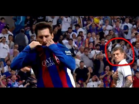 Злючее лицо Тони Крооса после победного гола Месси :) Toni Kroos angry face !