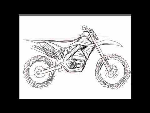 How To Draw A Dirt Bike Youtube
