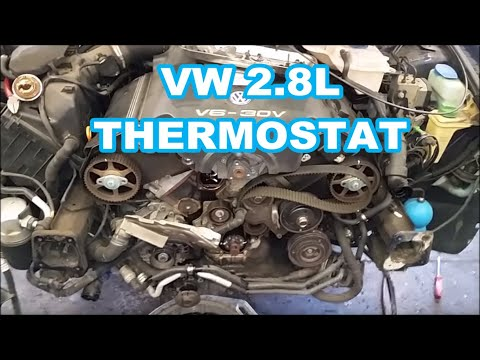Thermostat replacement on a 2000 VW PASSAT 2.8L is a PAIN! Screw you VW! lol (not a how to)