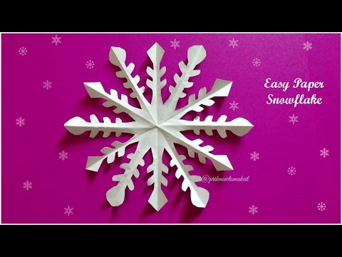 Paper snowflake tutorial || How to make simple paper snowflake || paper craft