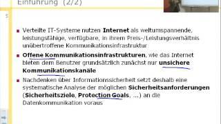 Informationssicherheit (SS 2013), Sicherheitsziele