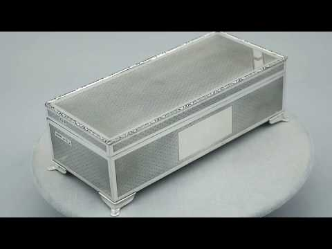 Sterling Silver Cigarette/Jewellery Box by Harman Brothers - Vintage (1979) - AC Silver (A8502)
