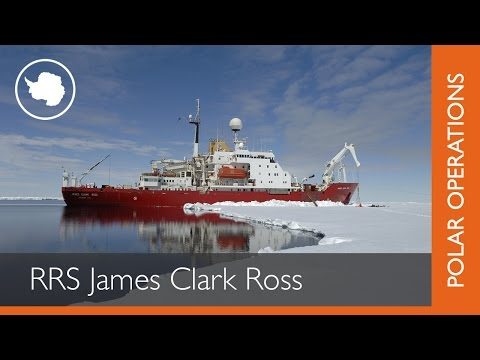 RRS James Clark Ross in Antarctica