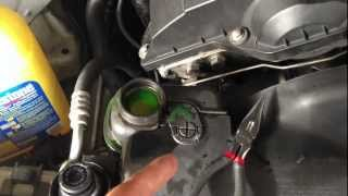 how to remove air bubbles from your radiator engine block 97 03 bmw 5 series e39 528i 540i m5 m52