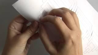Киригами пирамида Хеопса, видео инструкция