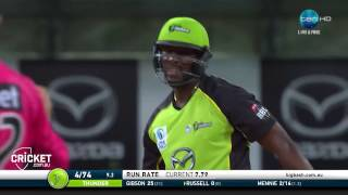 Russell Unveils Outrageous Bat In The BBL