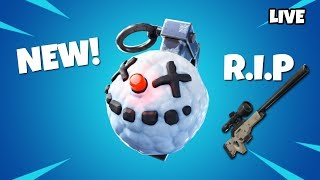 *NEW* UPDATE // COBALT STARTER PACK // CHILLER GRENADE // PLAYING WITH SUBS (FORTNITE LIVE STREAM)