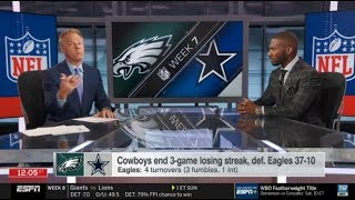 "Ryan Clark ""heated debate"": Cowboys end 3-game losing streak after knockdown Eagles 37-10 