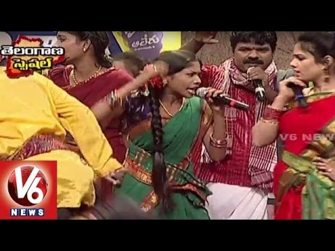 Asaidula Harathi Kalla Gajjala Gammathi Song | Telangana Folk Songs | Dhoom Thadaka | HD | V6 News