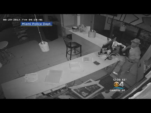 Video: Burglars Bust Through Miami Restaurant, Steal Cash & Property