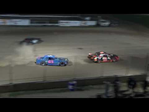 Street Stock Heat Race #3 at Crystal Motor Speedway, Michigan on 09-04-16.