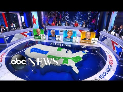 The Latest Projections For The Democratic Primary L ABC News