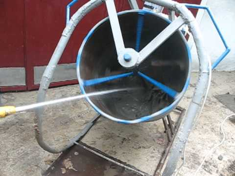 Homemade cement mixer doovi for Fabrication barbecue exterieur