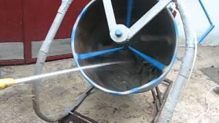Самодельная бетономешалка качельного типа