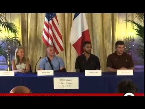 French Terrorist Train Attack - Full Press Conference By The 3 American Heroes (US Embassy)