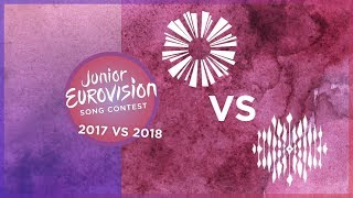 Junior Eurovision - 2017 VS 2018