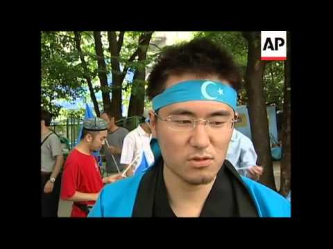 Uighur community protest over ethnic violence in China's Xinjiang