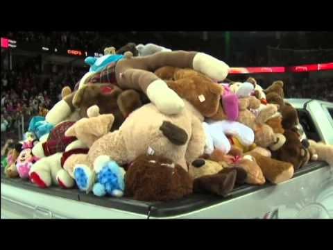 Teddy Bear Toss Presented by the Spokesman-Review Christmas Fund.