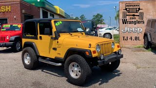 Here's a 2001 Jeep Wrangler 4.0L Sport | For Sale Review Tour at Rodgers Wranglers | HD TOUR