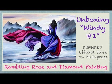 """unboxing-""""windy-#1""""-custom-diamond-painting-from-kufwkey-official-store-on-aliexpress"""