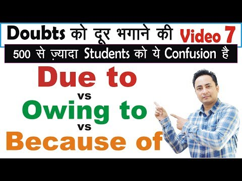 Doubt Clearing Video Lecture - 7: Due to, Owing to & Because of