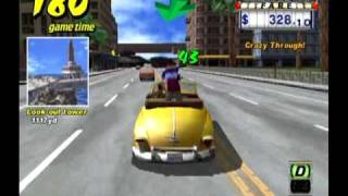 Crazy Taxi (Part 1 of 15) - $115,267.89 - 229 customers - New World Record!!!(Date: 11/17/2009 Player: quikpr Console: Gamecube Location: Salinas, Puerto Rico Unofficial World Record for Crazy Taxi. This run beats Erik Mooney's record ..., 2009-12-11T20:51:56.000Z)