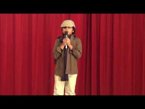 Rehaan sings at Kairali Syracuse Christmas 2017