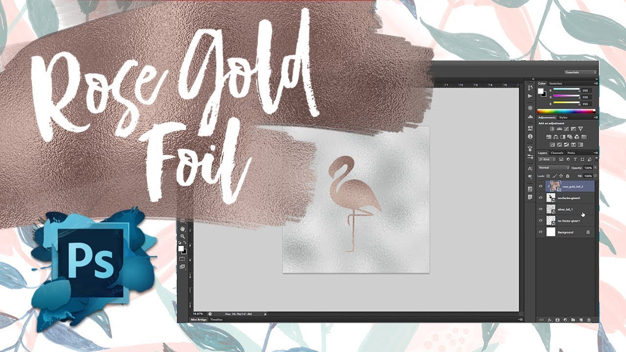 Creating A Rose Gold Foil Effect In Photoshop Two Minute Tutorial